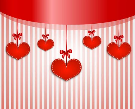 red wallpaper: Valentine wallpaper with red hearts and stripe background