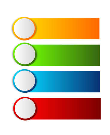 blank banner: Set of four different colored label with white circle