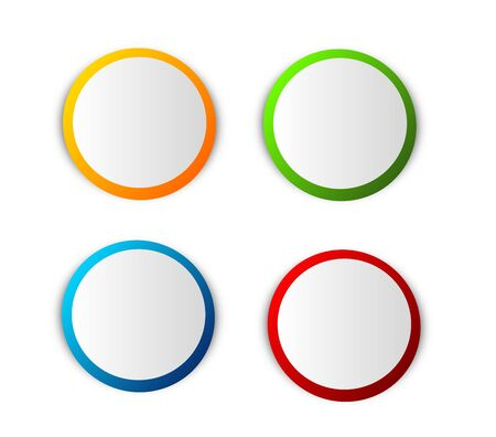 Illustration of four different colored blank circle