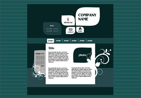web template: Vector illustration of web template for company