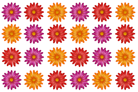 blooms: Illustration of floral texture with colorful blooms