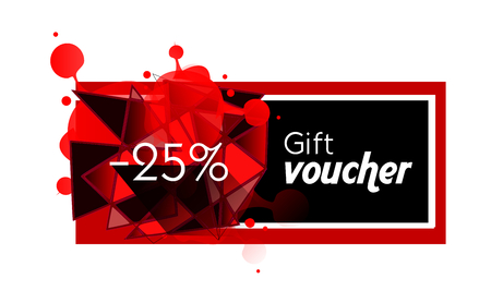 25: Illustration of gift voucher with 25% discount Stock Photo