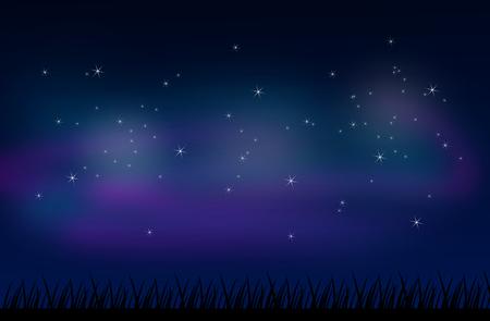 stars sky: Beautiful illustration of night sky full of stars Stock Photo