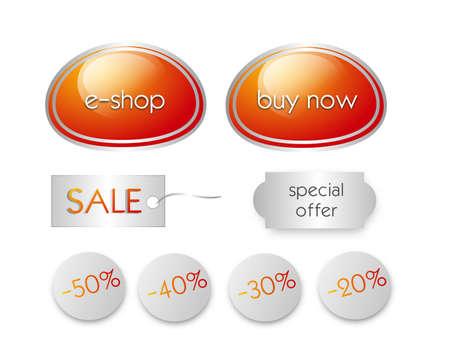 eshop: Set of useful e-shop elements such as button and labels