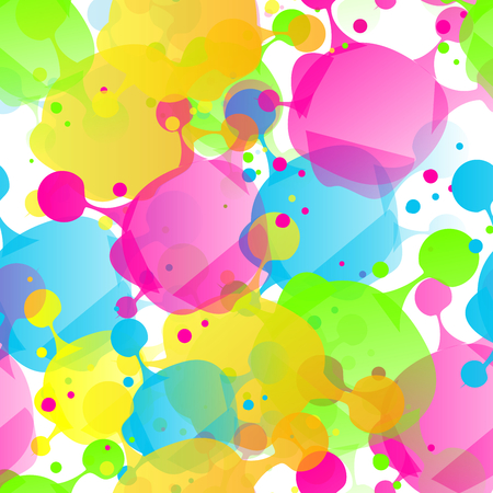 Illustration of colorful seamless pattern with splash