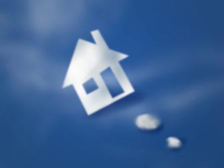 Photo manipulation of new house of cloud