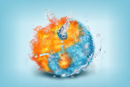 Photo of jing jang energy of water and fire