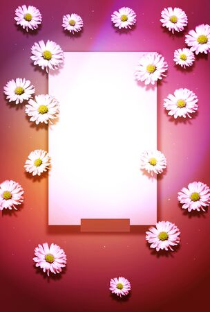 Template of colorful background with flower decoration