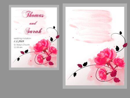 Background with rose decoration suitable for wedding invitation Zdjęcie Seryjne