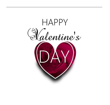 Greeting card to valentine's day decodated with rose heart