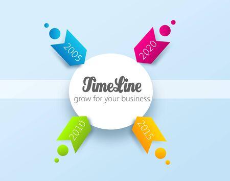 Illustration of inforaphic time line with arrows Zdjęcie Seryjne