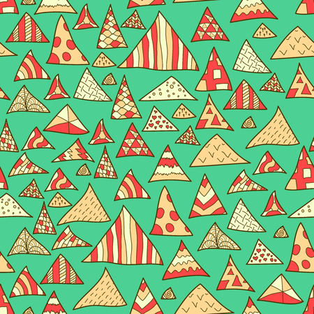 Seamless background, colorful hipster pattern of triangle, vector illustration
