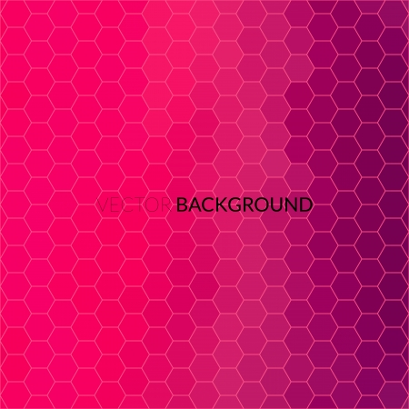 Digital hexagon pixel mosaic, bright, pink, purple, glamour color abstract vector background Vector