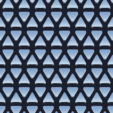 silver ingots: Seamless geometric background, pattern of shiny metallic triangles, vector illustration