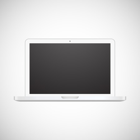 Vector illustration laptop isolated on white background Stock Vector - 22260724