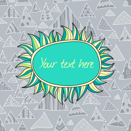 Seamless template, colorful hipster pattern from hand drawn triangles, vector illustration background Vector