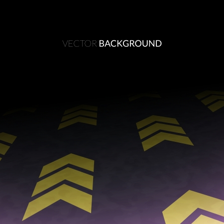 night road: Night road in perspective, asphalt with yellow markings, abstract vector background illustration Illustration