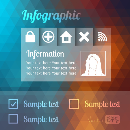Modern Design template, can be used for infographics, graphic or website layout vector