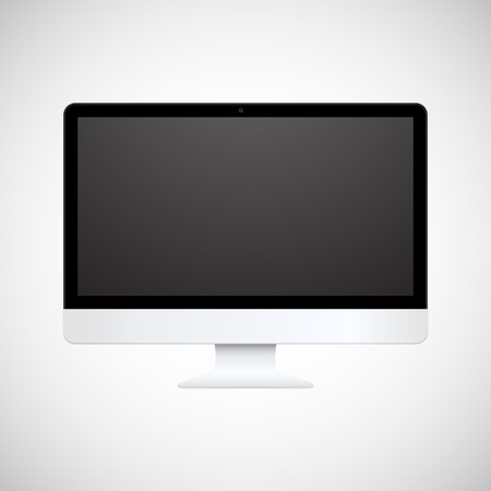 Vector computer display isolated on white background Stock Vector - 22377865