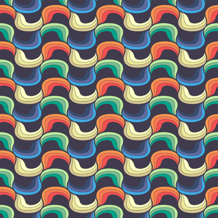 Seamless wave hand-drawn pattern, vector background. Can be used for wallpaper, pattern fills, web page background,surface textures. Stock Vector - 22753274