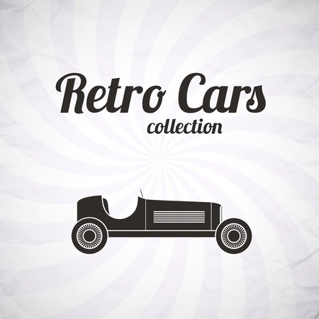 Retro sport racing car, vintage collection, classic garage sign, vector illustration background, can be used for design, card, infographics Vector