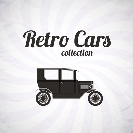 Retro car, vintage collection, classic garage sign, vector illustration background, can be used for design, card, infographics Vector