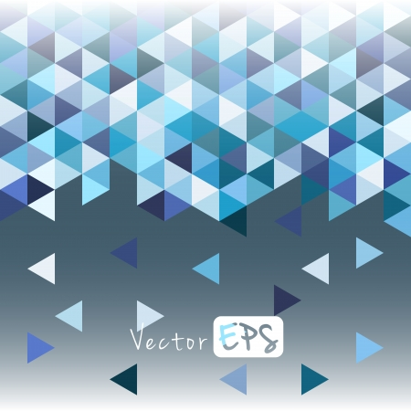 rhombic: Geometric mosaic pattern from blue triangle texture, abstract background illustration