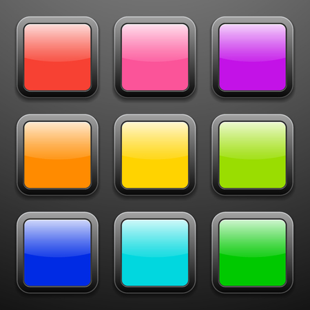 Background for the app vector icons - glass set Vector