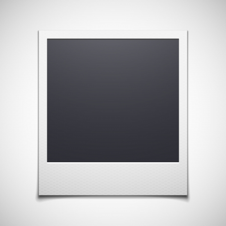 poloroid: photo frame isolated on white background. Vector illustration