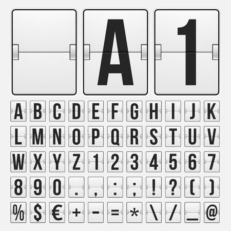scorebord: Countdown timer, witte kleur mechanisch scorebord met verschillende aantallen