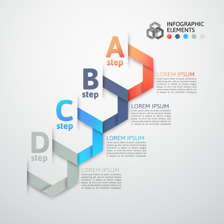 Modern business step origami style options banner, vector illustration Stock Vector - 22753480