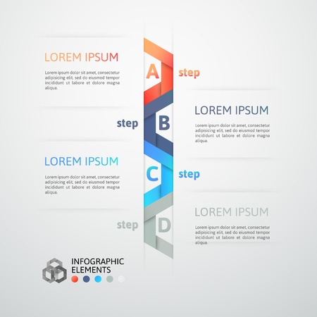 Modern business step origami style options banner, vector illustration Stock Vector - 22753482