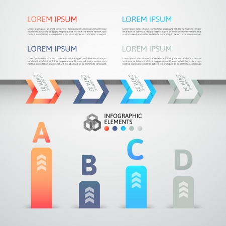 Modern business step origami style options banner, vector illustration Stock Vector - 22753487