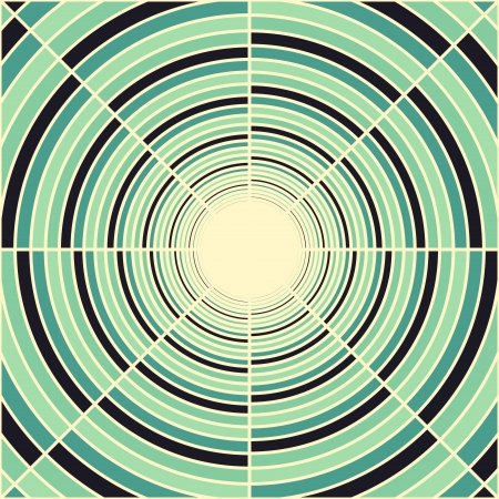 concentric circles: Abstract deep green tube, light at end of tunnel, spring theme, vector background