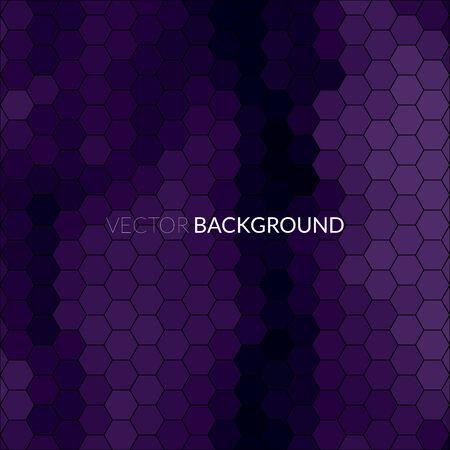 Digital hexagon pixel mosaic, bright, cyan, purple, blue color abstract vector ..background Vector