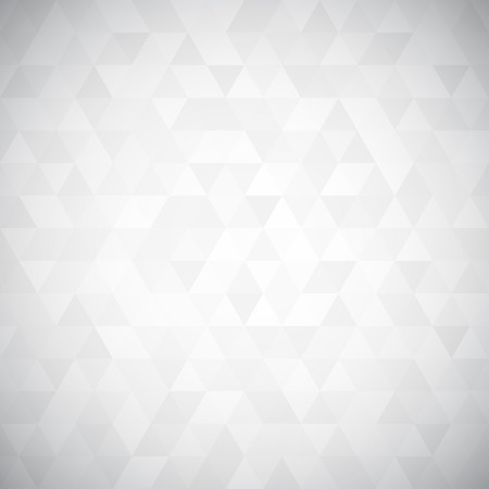on white: Digital triangle pixel mosaic, white and black color, hight key grayscale, abstract vector background
