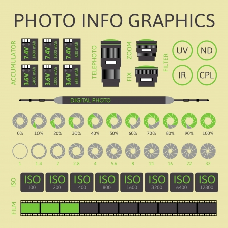 Photo infographics set, vector illustration, part two Vector