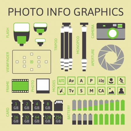 Photo infographics set, vector illustration, part one Vector