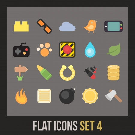 barrel bomb: Flat icons set 4 - game collection