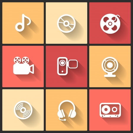 Vector design flat icons for web and mobile Stock Vector - 24510947