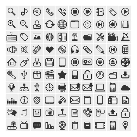 25 Universal Outline Icons For Web and Mobile Illustration