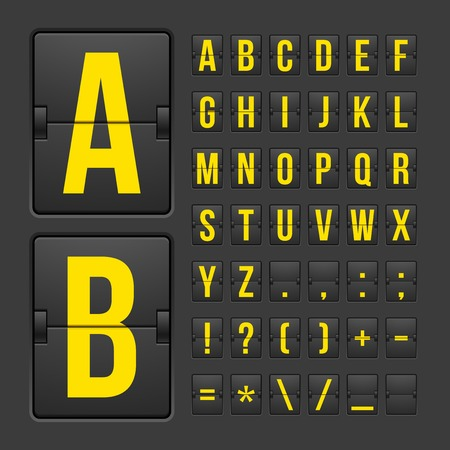 Vector scoreboard letters and symbols alphabet mechanical panel 版權商用圖片 - 25652460