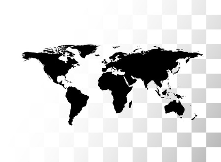 Vector black world map with transparent background royalty free vector vector black world map with transparent background gumiabroncs Image collections