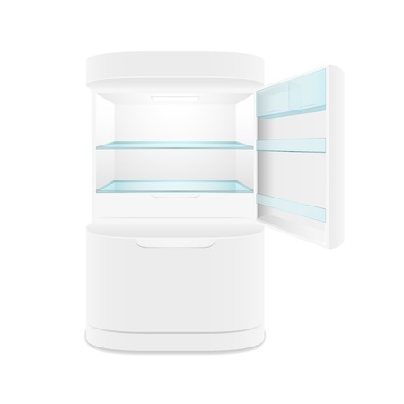 Modern two door white refrigerator, isolated, vector illustration Vector
