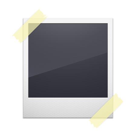 poloroid: Retro photo frame isolated on white background, vector illustration