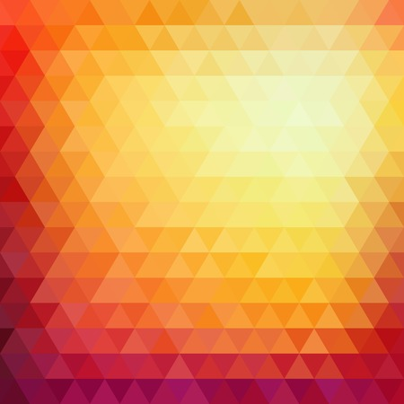 Retro mosaic pattern of geometric texture from triangle shapes, abstract vector background illustration Vector