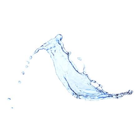Blauw water splash op een witte, vector achtergrond Stock Illustratie