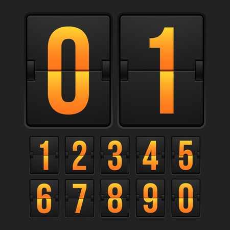 countdown: Countdown timer, white color mechanical scoreboard
