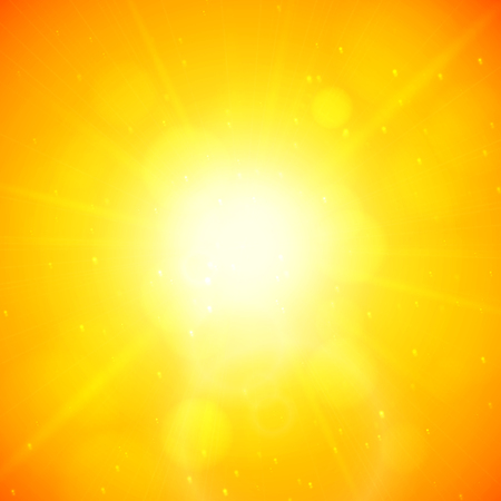 blinding: Summer background, summer sun with lens flare
