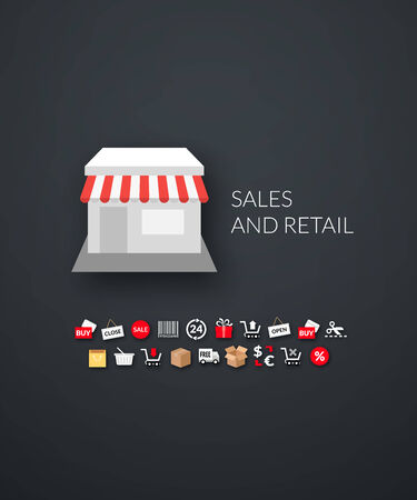 brand identity: Flat design modern of brand identity style